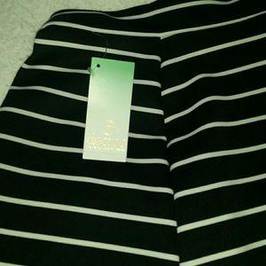 Decree Skirts - 2 for $20 Blk/Wht Stripe Skirt
